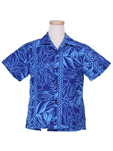 e041967bd Hawaiian Shirt Boys / Blue / Gc85bl-hulaohana