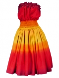 Hula Tube Top & Pa'u Set-Up / Gradation / Yellow & Red / J1248