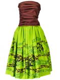 Hula Draping Tube Top & Pa'u Skirt with a cord Set-Up / Green / G2082g