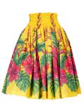 Hula Pa'u Skirt with Hibiscus Print / Yellow / G2389