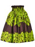 Hula Pa'u Skirt with Hibiscus Print / Brown /G2412