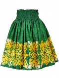 Hula Pa'u Skirt / Pineapple Motif / Green / G2492