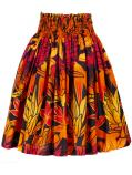Hula Pa'u Skirt / Torch Ginger & Bird of Paradise / Orange / G2504