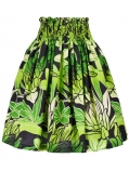 Hula Pa'u Skirt / Torch Ginger & Bird of Paradise / Green / G2506