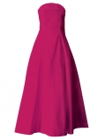 Hula Strapless Dress with Hawaiian Solid Fabric / Deep rose / G2550dr