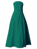 Hula Strapless Dress with Hawaiian Solid Fabric / Green / G2550gr