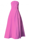 Hula Strapless Dress with Hawaiian Solid Fabric / Pink / G2550pi