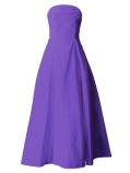 Hula Strapless Dress with Hawaiian Solid Fabric / Violet / G2550v