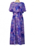 Hula Koshibo Long Cape Dress / Luxury Collection / Purple / G2559pu