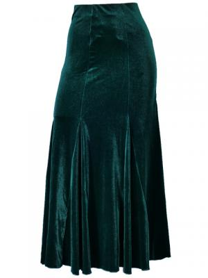 Hula Mermaid Cut Skirt with Velvet / Green / G1905ga