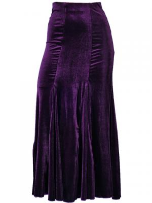 Hula Mermaid Cut Skirt with Velvet / Purple / G1905pa