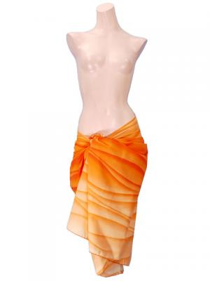 Hula Pareo with attached Sash / Orange / G2265o