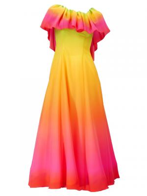 Hula Long Maxi Multi Way Dress / Luxury Collection / Gradation / Green & Pink / G2288grpi