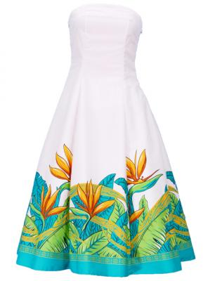 Hula Strapless Dress with Bird of Paradise / Cream  / G2474cr
