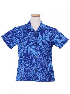Hawaiian Shirt Girls / Blue / Gc84bl