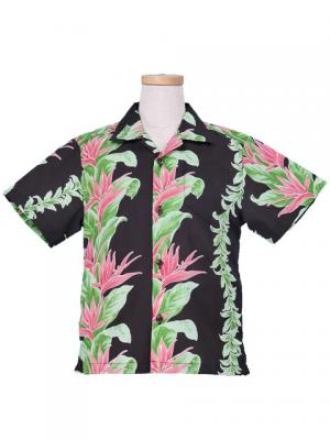 Hawaiian Shirt Boys / Black / Gc87b