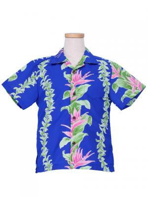 Hawaiian Shirt Boys / Blue / Gc87bl
