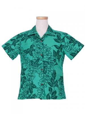 Hawaiian Shirt Girls / Green / Gc88g