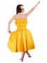 Hula Pa'u Skirt with Solid Print / Yellow / G1666y