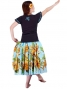 Hula T-shirt / Frilled Sleeve with Honu embroidery / GKD6tbb
