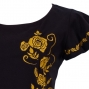 Hula T-shirt / Frilled Sleeve with Rose embroidery / GKD8gb