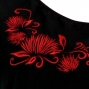 Hula T-shirt / Frilled Sleeve with lehua embroidery / GKD7rb